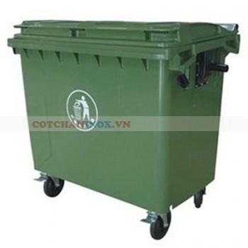 Thùng rác nhựa 660L nhập khẩu