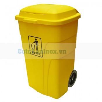 Thùng đựng rác bằng nhựa có bánh xe