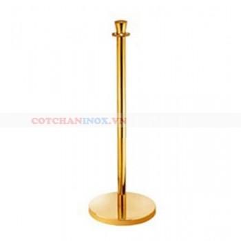 Cột trụ ngăn bằng inox mạ vàng