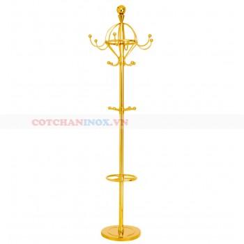 cây treo quần áo inox mạ vàng