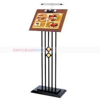 Bán biển menu thực đơn có đèn chiếu sáng B39D bằng inox