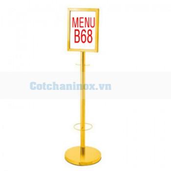 Biển thông báo bằng inox đặt hành lang B68 giá rẻ