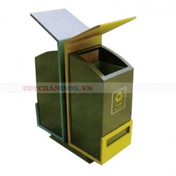 Bán thùng đựng rác bằng thép 2 ngăn
