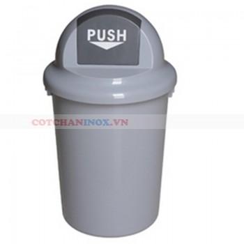 Thùng rác nhựa tròn nắp đẩy