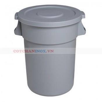 thùng đựng rác nhựa tròn nắp kín