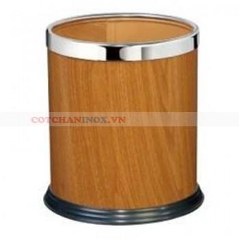 thùng đựng rác vân gỗ cao cấp