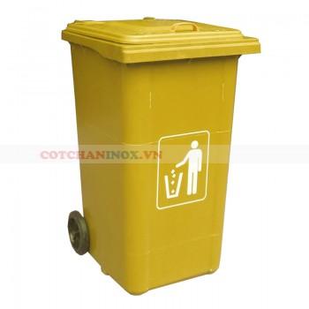 Thùng rác nhựa y tế 120 lít màu vàng