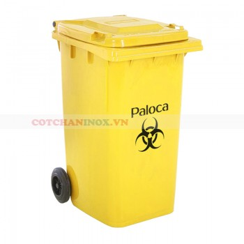 Thùng rác nhựa y tế 240 lít màu vàng