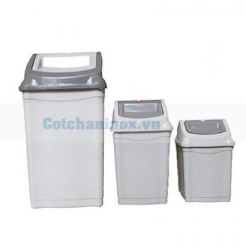Thùng rác hdpe bập bênh
