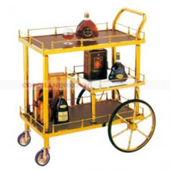 xe đẩy rượu bằng inox
