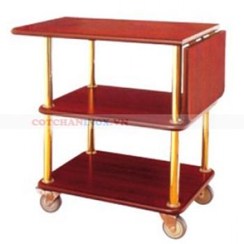 Xe phục vụ bàn bằng gỗ giá rẻ