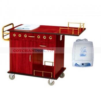 Xe phục vụ bàn có bếp chế biến thức ăn
