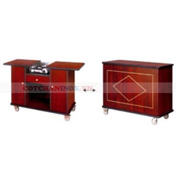 Tủ bếp di động cao cấp bằng gỗ