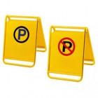 biển thông báo thông báo cấm dừng đỗ xe bằng inox