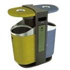 thùng rác gạt tàn 2 ngăn