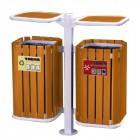 Bán thùng đựng rác treo đôi bằng gỗ
