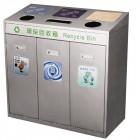 Thùng phân loại rác 3 ngăn bằng inox