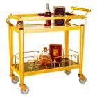 Xe phục vụ rượu inox vàng