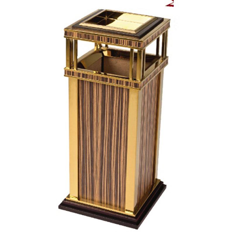 thùng rác inox gỗ cao cấp