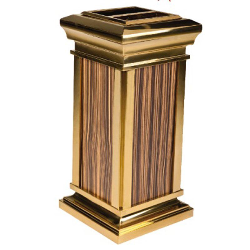 Thùng rác inox giả vân gỗ